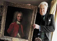 Alastair Lorne Campbell of Airds with Portrait of John Campbell 2nd Duke of Argyll and 1st Duke of Greenwich