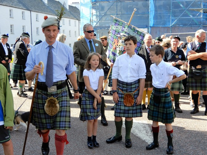 His Grace the 13th  Duke of Argyll and his children at the Inveraray Highland Games 2017