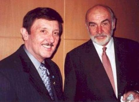 "James R. ""Jim"" Campbell and Sir Sean Connery"